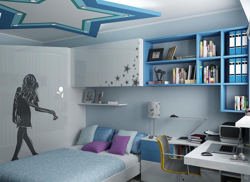 Дизайн комнаты для подростка девочки в современном стиле
