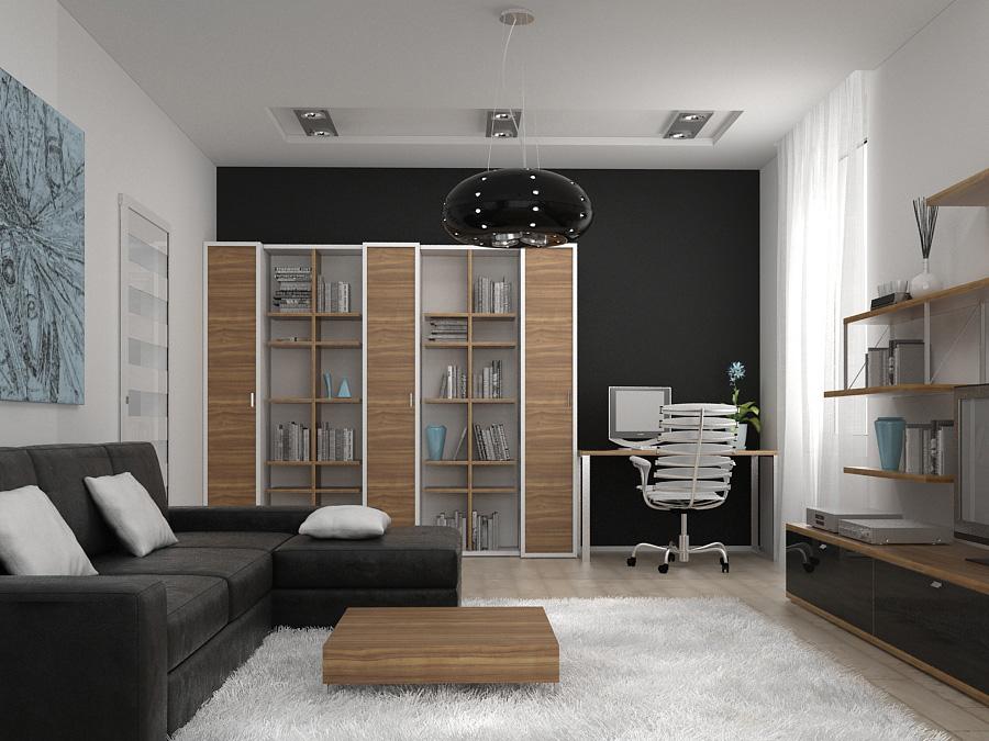 Дизайн зала 18 кв.м в однокомнатной квартире