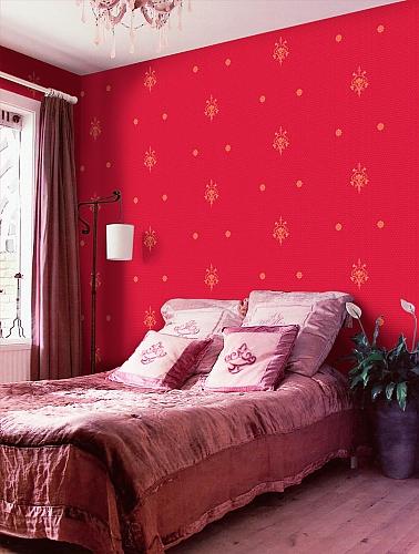 Обои Ornamenta Limonta – фото в интерьере спальни